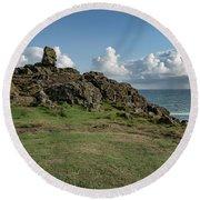 Man's Head - St Ives Cornwall Round Beach Towel