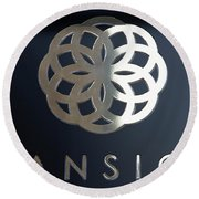 Colours. Mansion Black Round Beach Towel