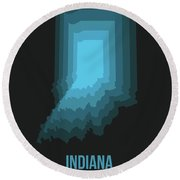Map Of Indiana 2 Round Beach Towel