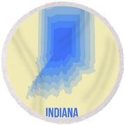 Map Of Indiana Round Beach Towel