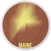 Map Of Maine Round Beach Towel