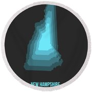 Map Of New Hampshire Round Beach Towel