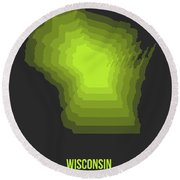 Map Of Wisconsin 2 Round Beach Towel