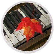 Maple Leaf Rag Round Beach Towel
