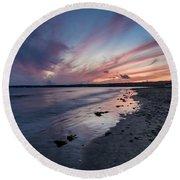 Marazion Sunset - Cornwall Round Beach Towel