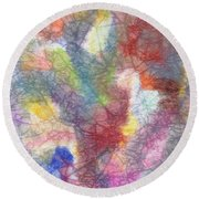Marble Abstraction Round Beach Towel