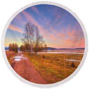 March Morning Round Beach Towel