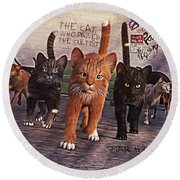 March Of The Mau Round Beach Towel