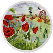 March With You Round Beach Towel
