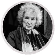 Margaret Atwood At The Hay Festival 2018 Round Beach Towel