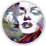 Marilyn Monroe Forever Alive Round Beach Towel