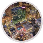 Market Square From Above  Round Beach Towel