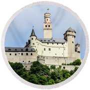 Marksburg Castle Round Beach Towel