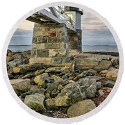 Marshall Point Light From The Rocks Round Beach Towel