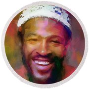 Marvin Gaye, Prince Of Soul Round Beach Towel