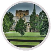 Mary Hall, Berry College Round Beach Towel