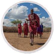 Maasai Welcome Round Beach Towel