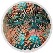 Mask Dreaming Of The Sea Round Beach Towel