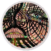 Mask I Am So Much More Than You See Round Beach Towel