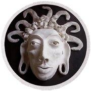 Mask The Aztec Round Beach Towel