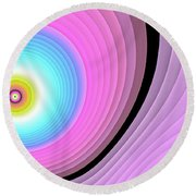 Massive Hurricane Pink Round Beach Towel