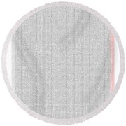 Mathematical Constants In Pi Round Beach Towel