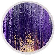 Round Beach Towel featuring the painting Matthew 5 14. Light Of The World by Mark Lawrence
