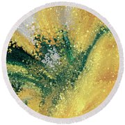 Round Beach Towel featuring the painting Matthew 5 16. Let Your Light Shine by Mark Lawrence