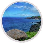 Maui Coast II Round Beach Towel