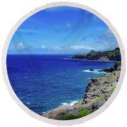 Maui Coast Round Beach Towel