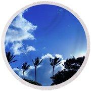 Maui Sky Round Beach Towel