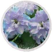 Mauves And Blues Round Beach Towel