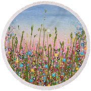 May Bee Round Beach Towel