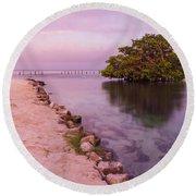 Mayan Sea Reflection 2 Round Beach Towel