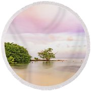 Mayan Sea Round Beach Towel