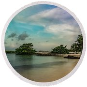 Mayan Shore 2 Round Beach Towel