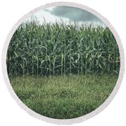 Maze Field Round Beach Towel