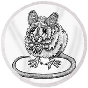 Meadow Jumping Mouse Round Beach Towel