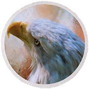 Round Beach Towel featuring the photograph Meant To Be - Eagle Art by Jordan Blackstone