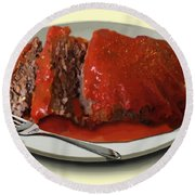 Meatloaf Round Beach Towel