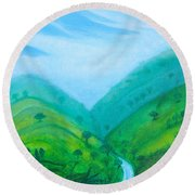 Round Beach Towel featuring the painting Medellin Natural by Gabrielle Wilson-Sealy