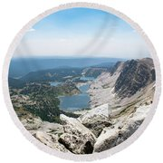 Round Beach Towel featuring the photograph Medicine Bow Peak by Nicole Lloyd