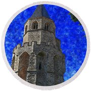Medieval Bell Tower 4 Round Beach Towel