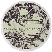 Melbourne Cup 1960 Round Beach Towel