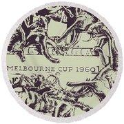 Melbourne Cup 1960 Round Beach Towel