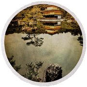 Memories Of Japan 1 Round Beach Towel