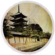 Memories Of Japan 4 Round Beach Towel