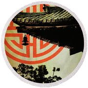 Memories Of Japan 5 Round Beach Towel