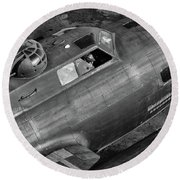 Memphis Belle From On High Round Beach Towel