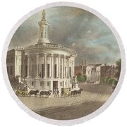 Merchants Exchange, 1838 Round Beach Towel